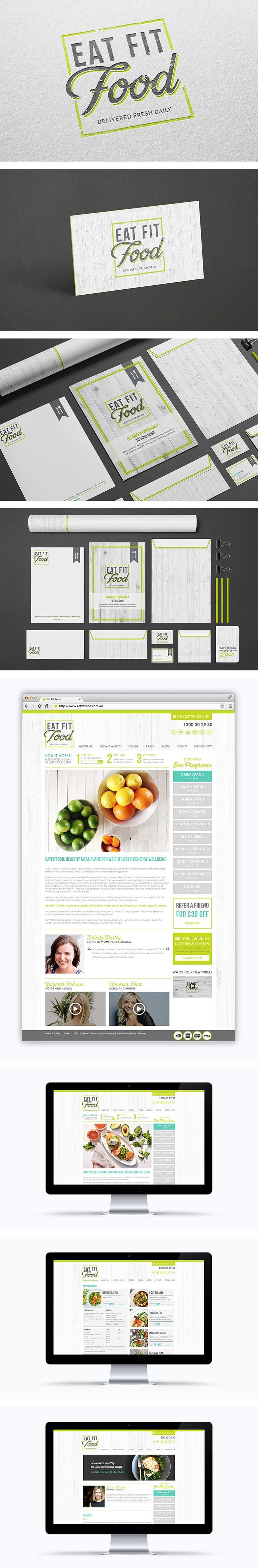 Eat Fit Food branding by Smack Bang Designs I really like this letterhead. I feel like it is elegant and goes well with with all the different formats that they have it in. I also really like the color choices that they made.