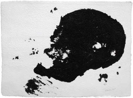 Armando, Kopf (schwarz), 2014, Carborundum-druk op handgeschept papier,  56 x 76 cm (oplage 20 ex.), Post + Garcia Maastricht