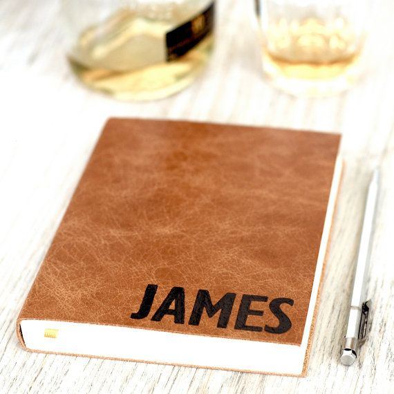 Personalised Leather Notebook Journal for by HOPEHOUSEPRESS. Lovely!