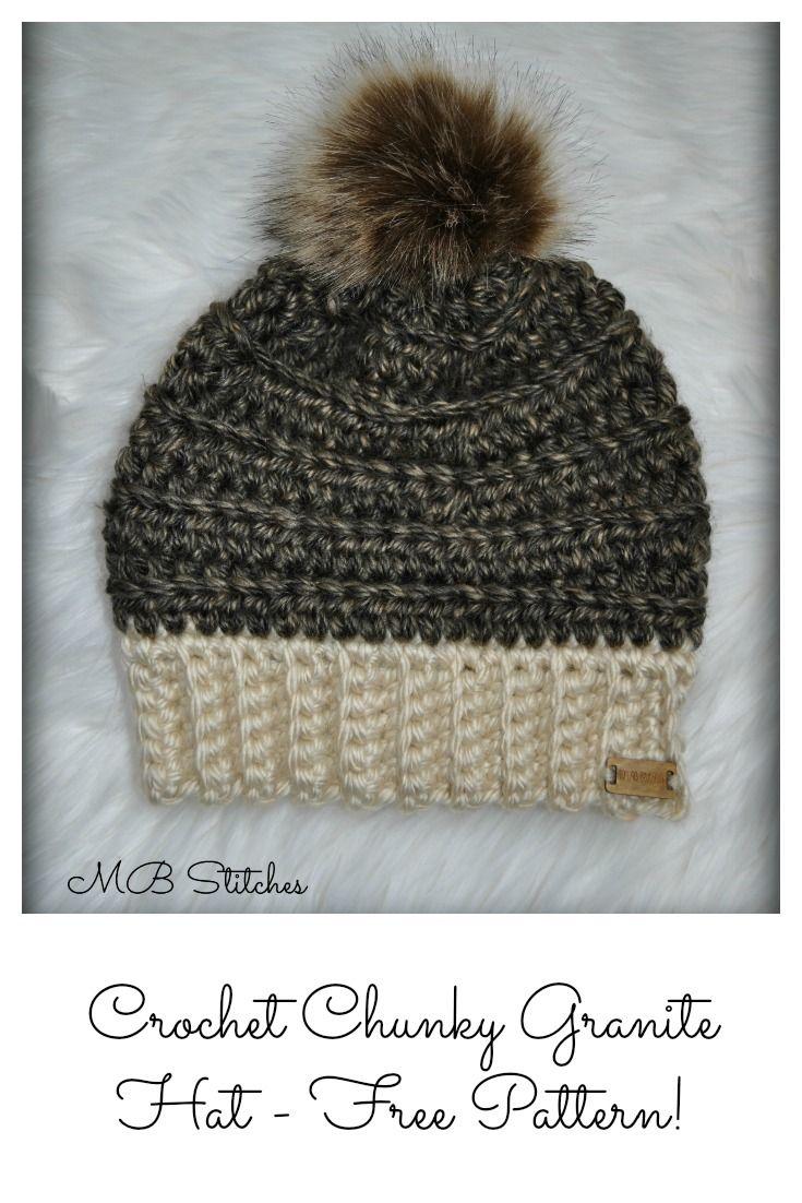 Crochet Granite Chunky hat - Free pattern!