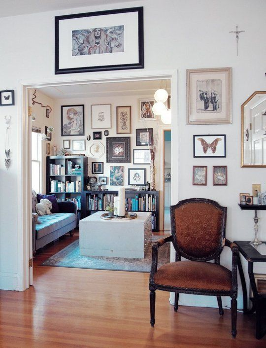 """An Eclectic mix of art that works together. Caitlin & Dave's """"Victorian Eclectic"""" Apartment in Oakland"""
