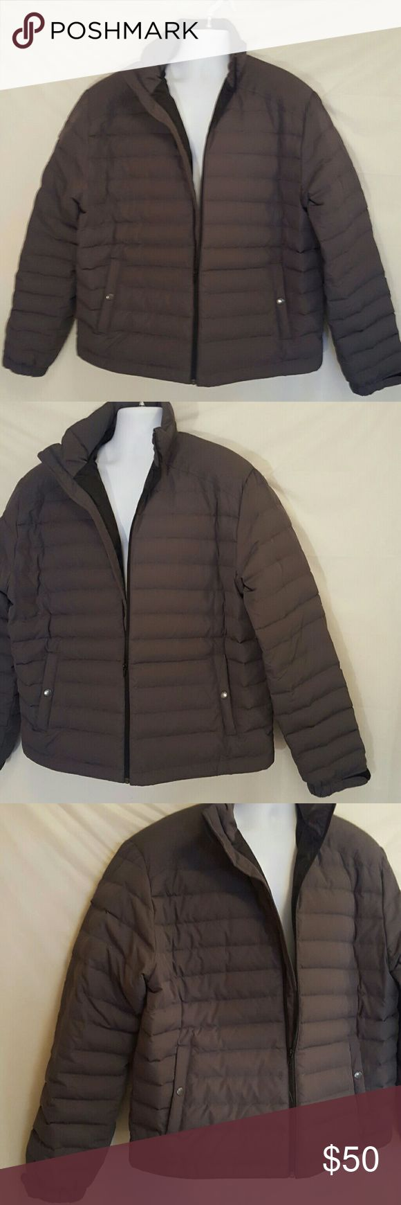 J Crew New York Men's Unisex Goose down jacket XL J Crew New York Goose down jacket Puffer  XL grey.. Nicely insulated inside one side pocket in the inside J. Crew Jackets & Coats Performance Jackets