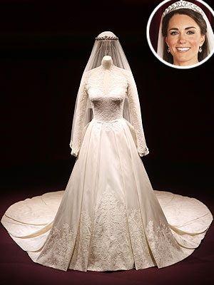 Princess Kate's Wedding Dress On Display http://www.curvygirlguide.com/curves/princess-kates-wedding-dress-on-display/