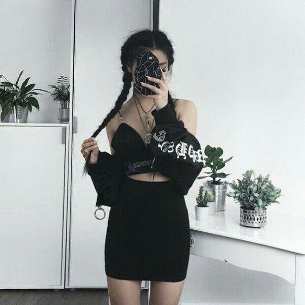 edgy korean fashion that looks really trendy. 48982
