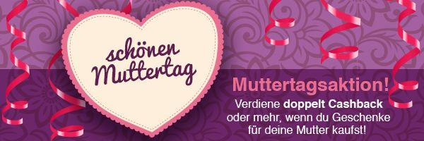 Am Sonntag ist Muttertag!Habt ihr schon ein schönes Geschenk? Falls nicht, dann schaut doch mal hier: http://www.swagbucks.com/shop/stores/43/mothers-day?loc=64 und verdient doppelt oder gar dreifach Cashback!