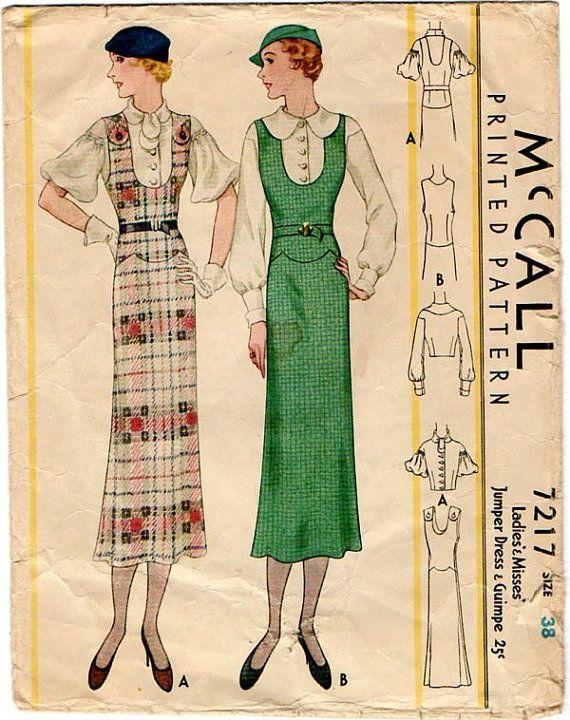 """Иллюстрации из американского журнала """"McCall's"""". Первая половина 1930-х годов. - История красоты"""