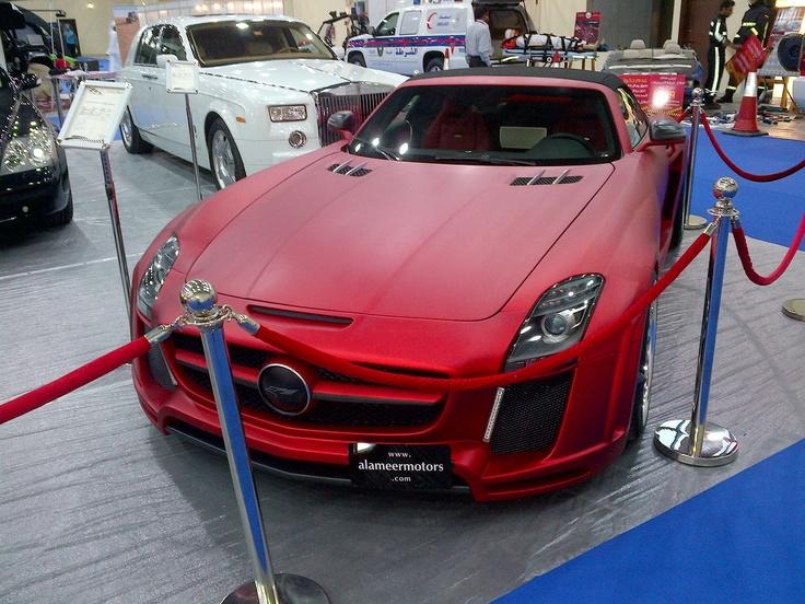 Matte Red Chrome!! carwrap mercedes sls Car wrap