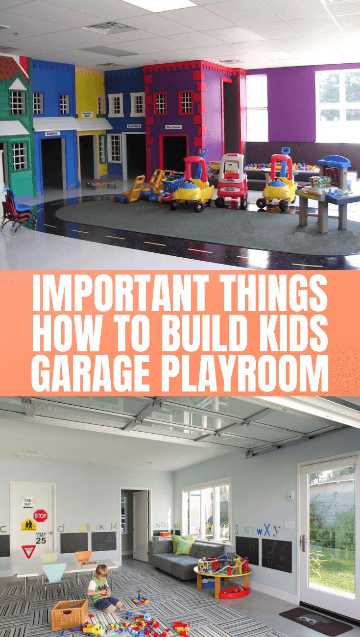 Playful Kids Garage Playroom Ideas In 2020 Garage