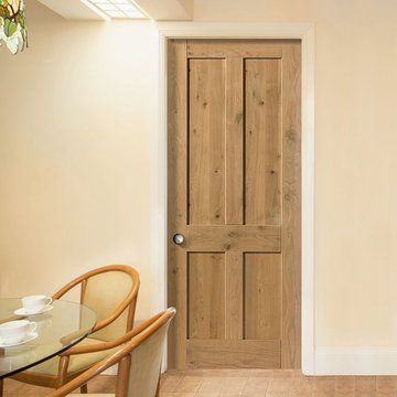 Rustic Oak Shaker 4 Panel Prefinished Door. image number 2 of tudor doors northolt ... : tudor doors northolt - pezcame.com