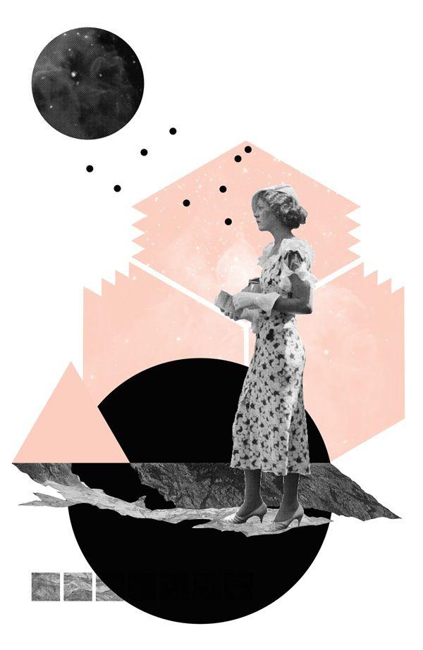 Géométrie, photos rétro et collage avec Natalie Nicklin                                                                                                                                                                                 Plus