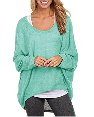 ZANZEA Women's Sexy Casual Autumn Oversized Baggy Off-Shoulder Long Sleeve Jumper Tops Blouse Green 3XL ZANZEA http://www.amazon.co.uk/dp/B016ESEUL6/ref=cm_sw_r_pi_dp_AxRlwb1AQNMHR