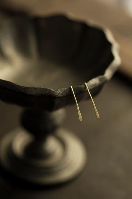 K18 Gold Long Leaf Earrings - IRRE