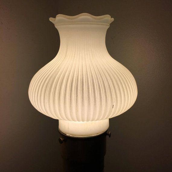 Vintage Art Deco Milk Glass Lamp Shade