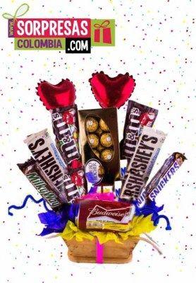 Locos Chocolates Déjate cautivar por los más hermosos detalles rellenos de deliciosos CHOCOLATES. Servicio de atención al cliente: Tel: 3004198. Cel / Whatsapp: 300 320 47 27. Tienda online-Colombia.