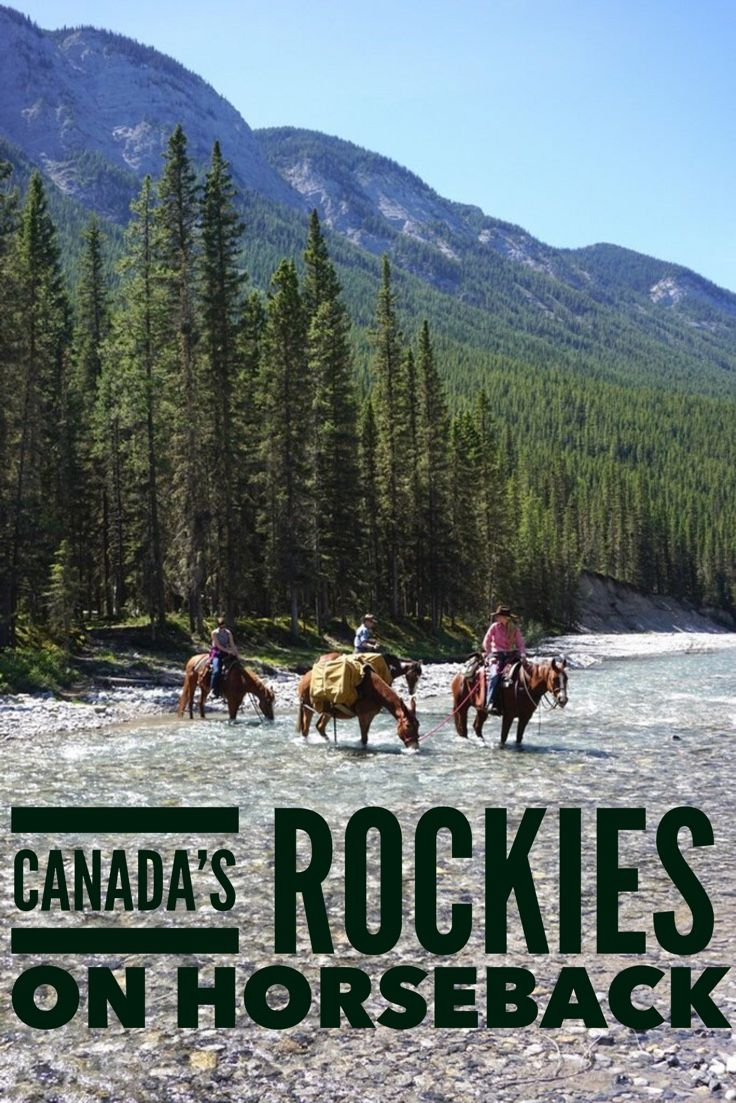 Canada's Rocky Mountains on horseback. Bucketlist adventure in Banff National Park.