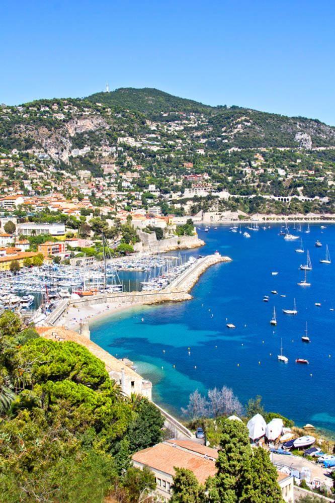 Playa de Saint Jean-Cap-Ferrat en Niza Costa Azul, Francia