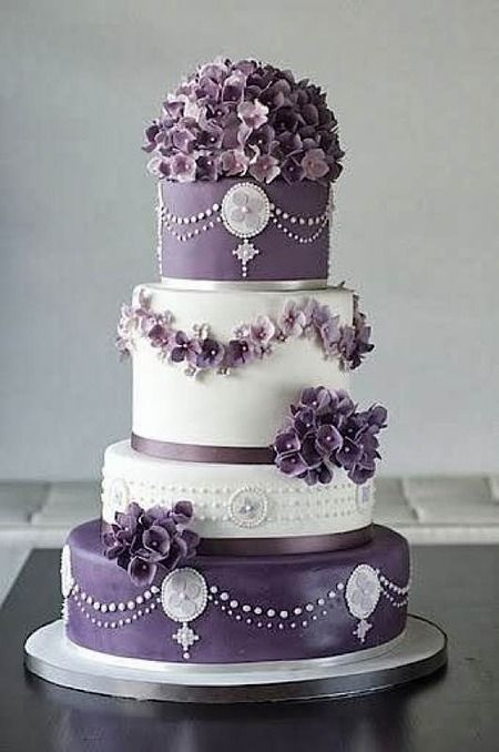 Why does this cake remind me of Downton Abbey? Maybe because it is VIOLET! Another cool cake from Cake Wrecks - Home