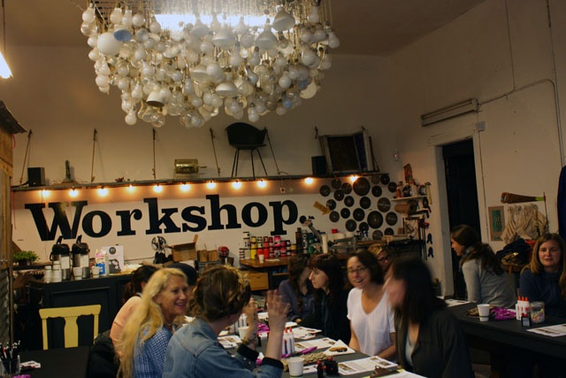 POP-UP BRITEX: Arriving and getting to know each other over Four Barrel coffee and The Mill pastries at Warp x Weft: textile 101 at Workshop SF