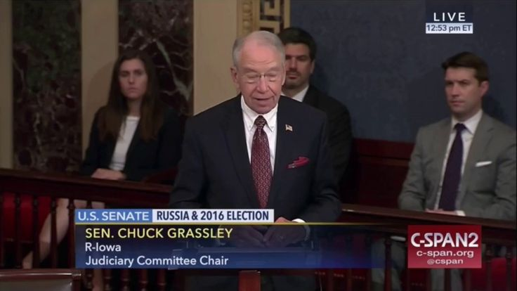 Sen. Chuck Grassley (R-IA) Slams Sen. Charles Schumer (D-NY) for misleading the public on the Russia probe. Grassley accused Schumer and other Senate Democra...