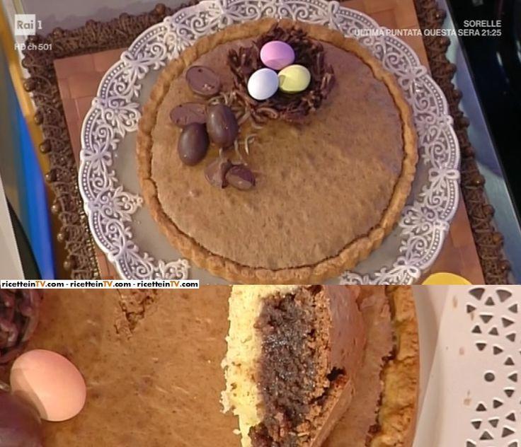 """La ricetta della torta al cioccolato delle Cattelani di Natalia Cattelani del 13 aprile 2017, a """"La prova del cuoco""""."""