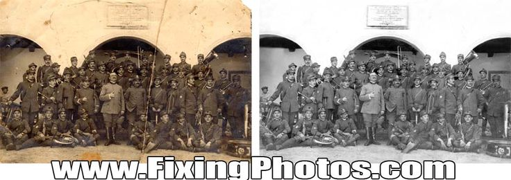 Photo Repair Service www.fixingphotos.com/ Since 2003 We Have Been Fixing & Repairing Damaged, Old Photos.  MBG!  #photorepair #photorestoration