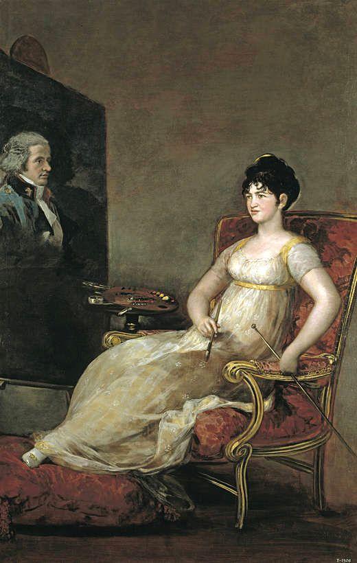 Portrait de la Marquise de Villafranca —GOYA