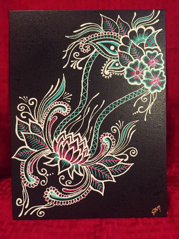 Mehndi Designs High Quality : Quot lotus tower is an original painting done in henna style