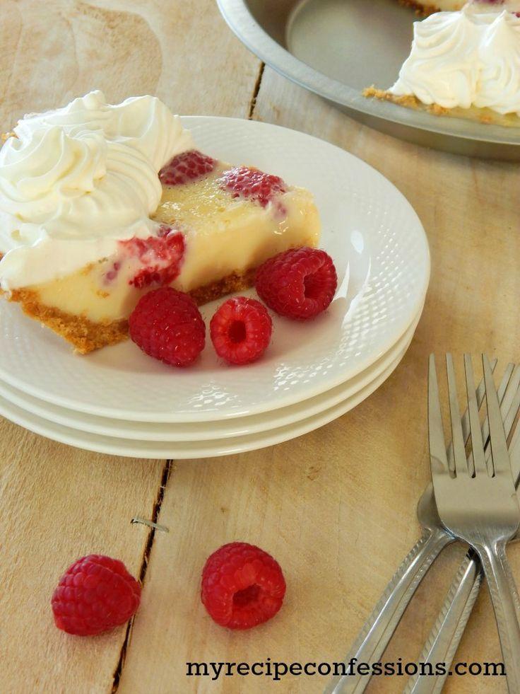 Raspberry Custard Pie.  sweetened condensed milk and sour cream