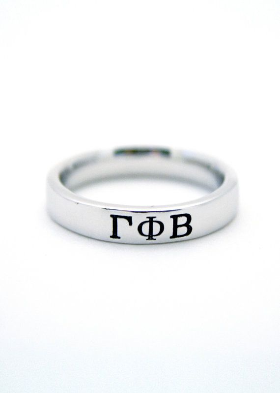 Gamma Phi Beta Sterling Silver Skinny Band by CollegiateStandard, $28.00