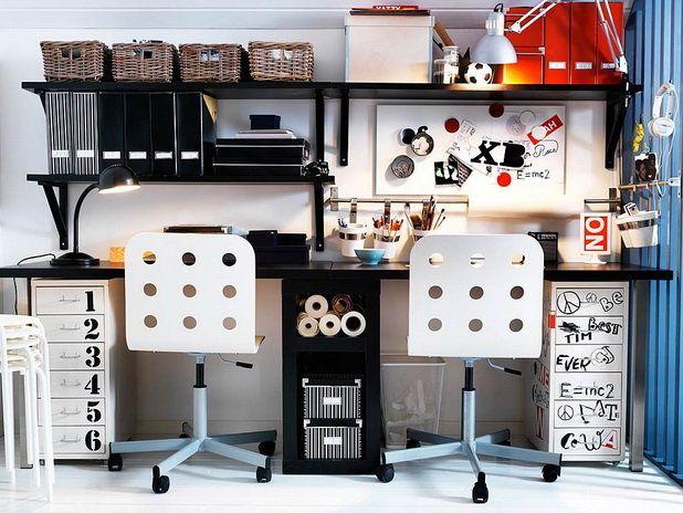 Marvelous Orderly Study Room Interior Design: Modern And Trendy Teen Study Room  Interior Design Ideas ~ Part 27