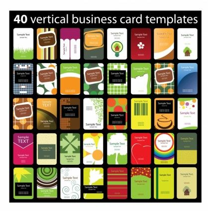 variety of beautiful cards templates vector