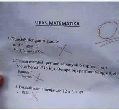 Download Sekarang + Inilah Bentuk Kepolosan Anak SD Ketika Menjawab Soal Ujian, Kocak dah!