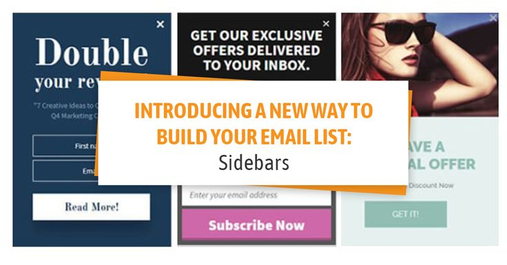 Introducing a New Way to Build Your Email List: Sidebars