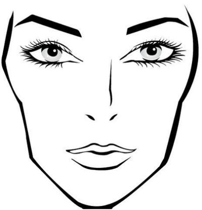 Face charts on Pinterest | Makeup