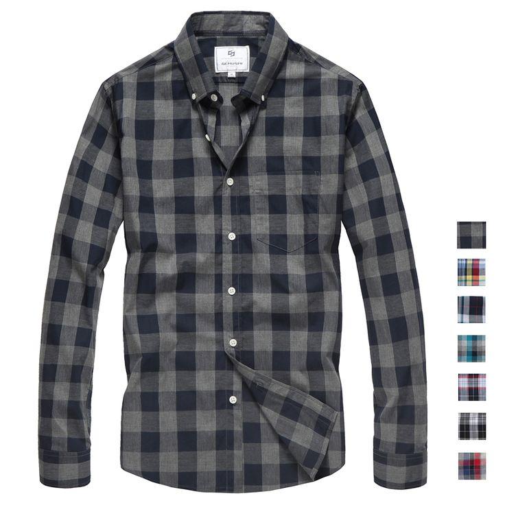 2015 novo roupas masculinas Slim fit camisa xadrez Casual masculino camisas de algodão roupas de manga longa dos homens mais tamanho tamanho grande em Camisas Casuais de Roupas & acessórios no AliExpress.com | Alibaba Group