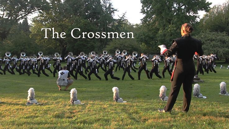 Crossmen's hornline going thru their warm up for Allentown 2016