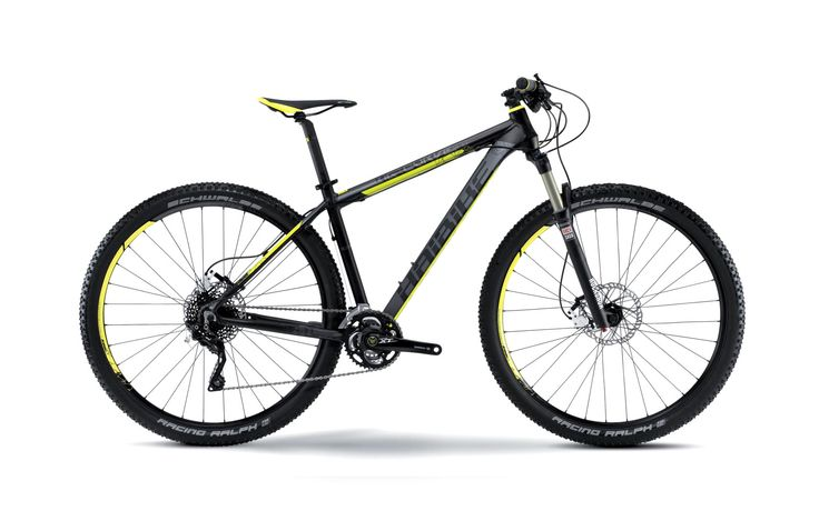 "Haibike Big Curve 9.70 29"" Hardtail Bike 2015 Grey Yellow Black - ALLTRICKS"