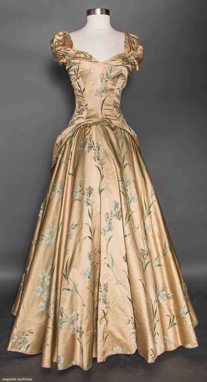 Gold Brocade Evening Gown, 1940s, Augusta Auctions, April 8, 2015 NYC, Lot 348                                                                                                                                                      More