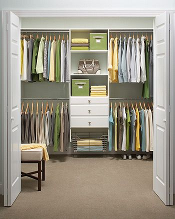 72 in h x 96 in w classic white ultimate closet kit for Bedroom organisation inspiration
