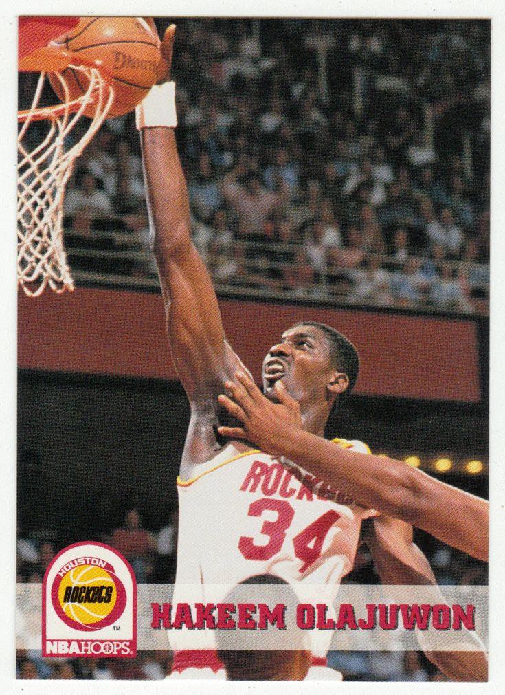 Hakeem Olajuwon # 81 - 1993-94 Skybox Hoops Basketball