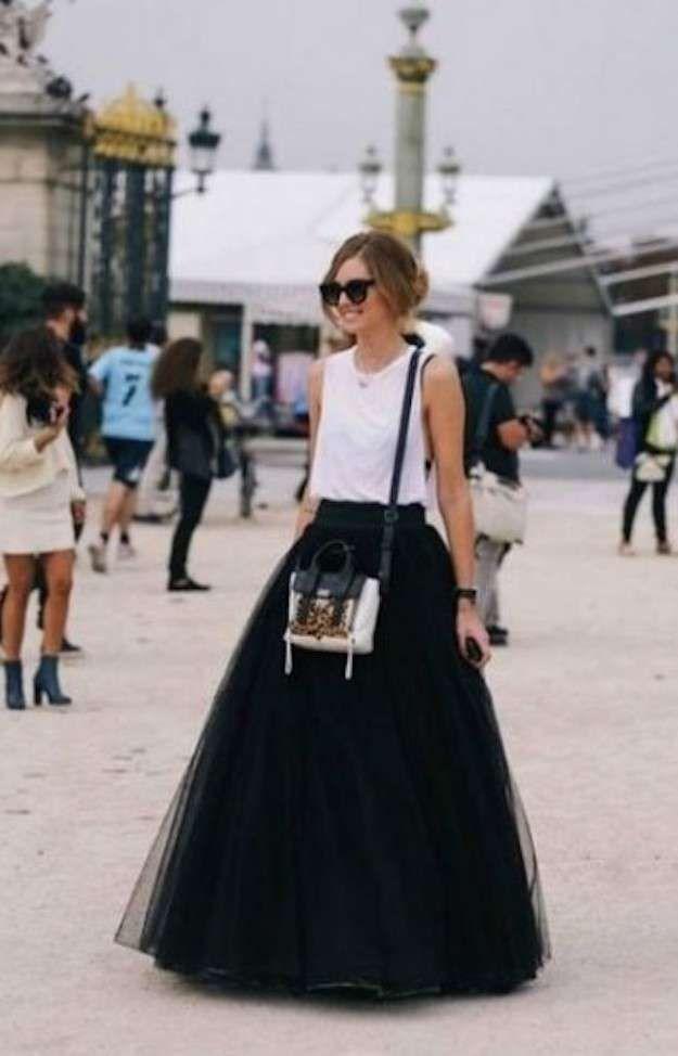 El regreso de la falda de tul: fotos de los modelos - Chiara Ferragni falda tul
