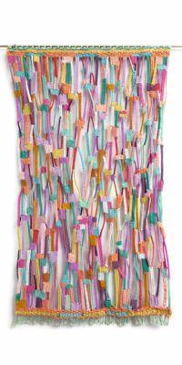 Alicia Scardetta, Hopscotch, 2015, Cotton wool metallic thread and mixed fibers