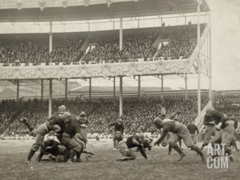 Football Game, 1916 Photographic Print at Art.com