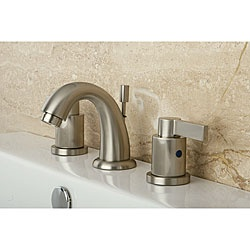 NuvoFusion Goose Neck Mini widespread Satin Nickel Bathroom Faucet by