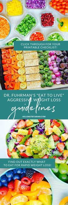 Dr. Fuhrman Eat to Live Nutritarian Guidelines for Aggressive Weight Loss — Did…