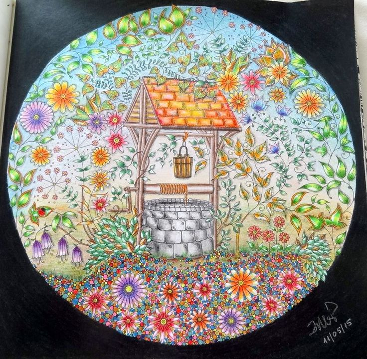 Facebook Photophpfbid Johanna Basford Secret GardenGarden ImagesWishing WellJohanna Coloring BookShading