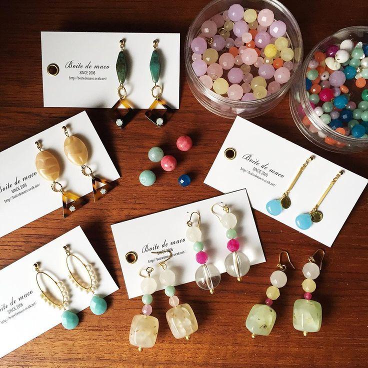 松本PARCOのthingsly by Lolaさんに 天然石を使ったピアスなどを発送しました。 可愛いカラーにウキウキ 日曜日には店頭に並んでるかもです☺️ #boitedemaco