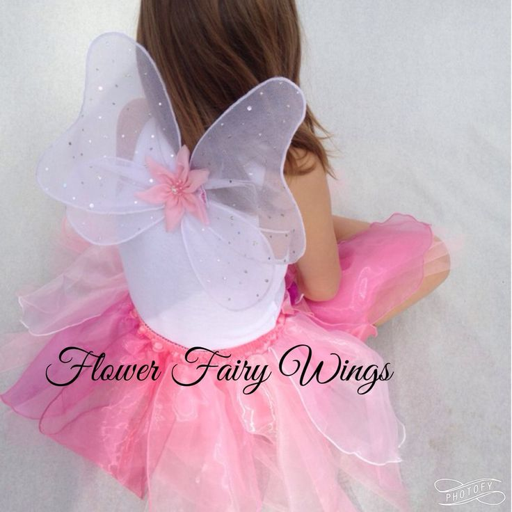 Flower Fairy Wings available in Pink or White $12.50