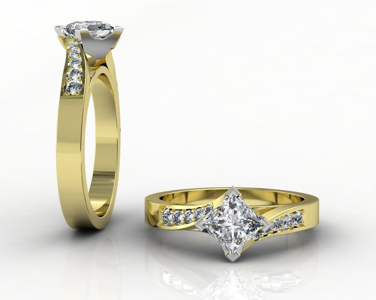 18ct Two Tone Engagement Ring
