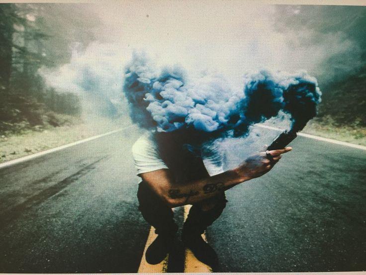 Fotos con bengalas de humo